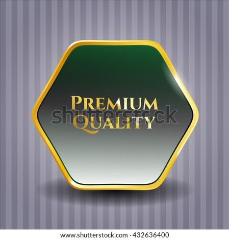Premium Quality golden badge or emblem