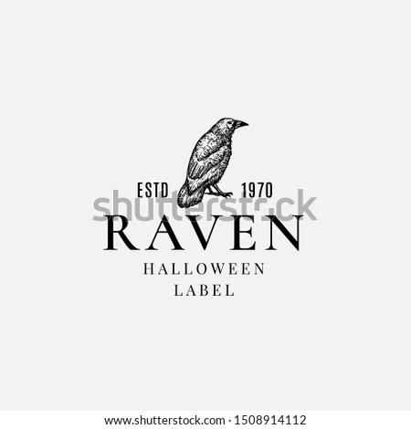premium quality halloween logo