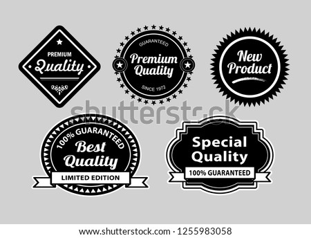 Premium quality label badges. Good use for badge, symbol, sticker, or any design you want.