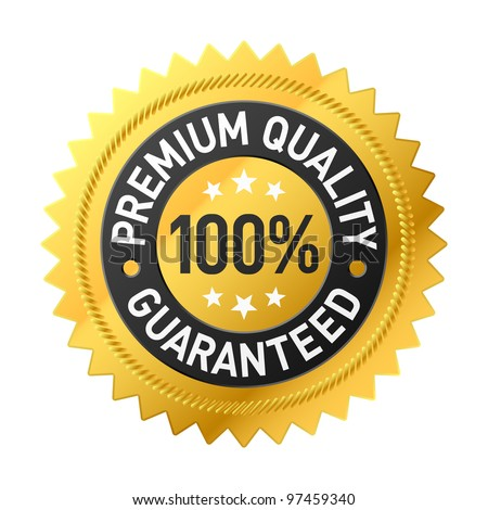 Premium quality label. Vector.