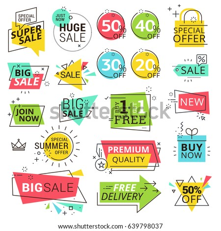 Premium quality labels. Modern vector illustration labels for shopping, e-commerce, product promotion, social media stickers, marketing.