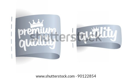 Premium quality labels set. - stock vector