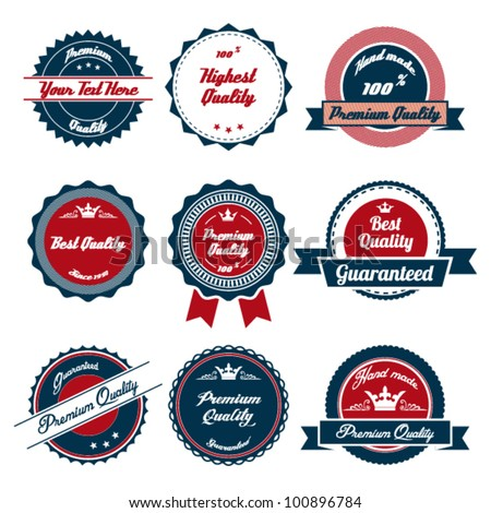 Premium Quality Labels with retro design
