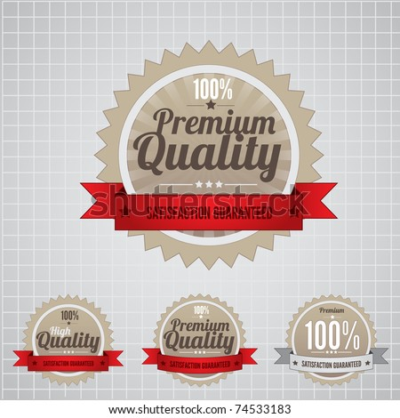 Premium Quality Labels with retro vintage design