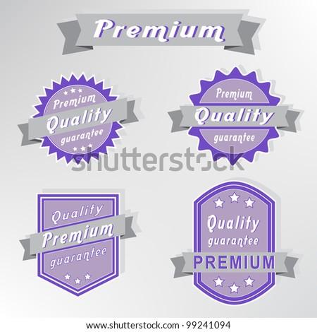 Premium quality purple stamps set