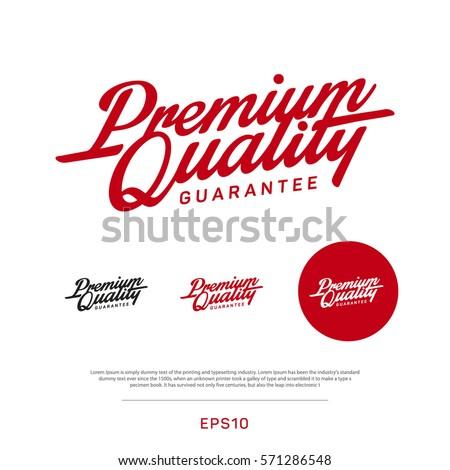 Premium, quality retro vintage sign for package design