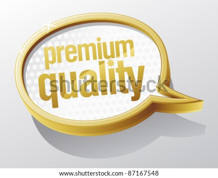 Premium quality shiny glass speech bubble.