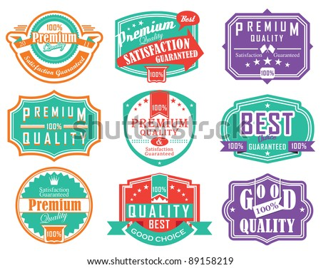 Premium quality vintage label design
