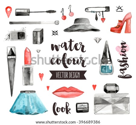 Watercolor Vector Drawings Collection