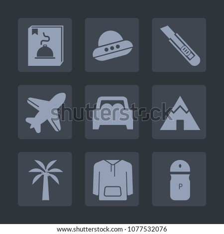 Premium set of fill icons. Such as invasion, adventure, aviation, seasoning, button, tent, vehicle, , outdoor, spice, interface, airplane, cutter, flight, flying, menu, spaceship, tool, air, knife