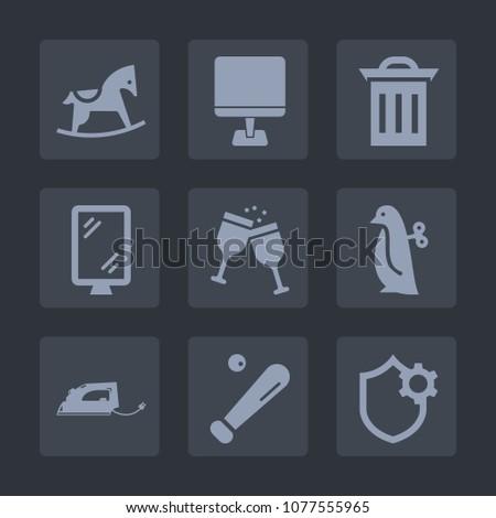 premium set of fill icons such