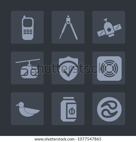 Stock Photo Premium set of fill icons. Such as security, tool, phone, equipment, japan, glass, drawing, food, japanese, digital, bird, space, check, geometry, transportation, business, communication, satellite