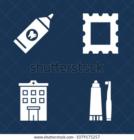 Premium set of fill vector icons. Such as dentist, vintage, medical, toothpaste, art, border, frame, urban, modern, building, health, office, construction, dental, rent, card, fresh, pattern, empty