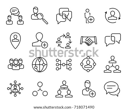 Premium set of network line icons. Simple pictograms pack. Stroke vector illustration on a white background. Modern outline style icons collection.