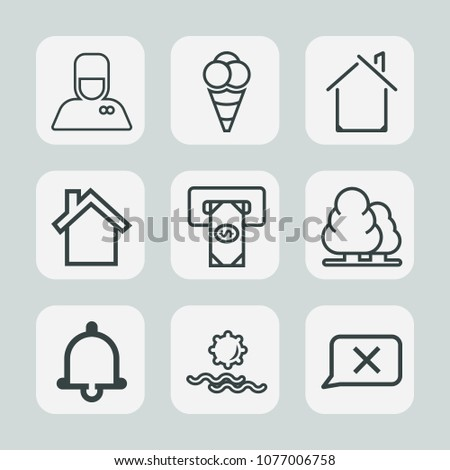 premium set of outline icons