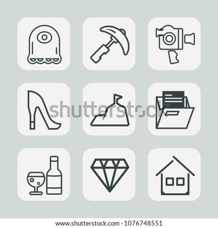 premium set of outline icons