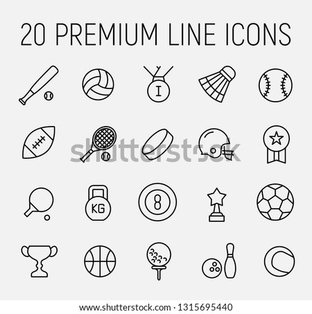 Premium set of sport line icons. Simple pictograms pack. Stroke vector illustration on a white background. Modern outline style icons collection. #1315695440