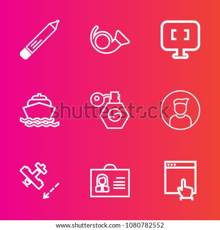 premium set with outline vector