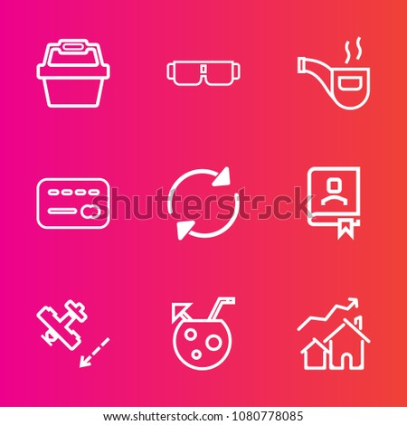 premium set with outline vector ...