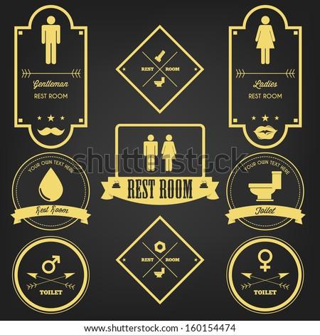 Premium Toilet Sign