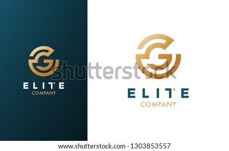 Premium Vector G Logo in two color variations. Beautiful Logotype for luxury branding. Elegant and stylish design for your company.