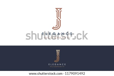 Premium Vector J Logo in two color variations. Beautiful Logotype design for luxury company branding. Elegant identity design for your company.