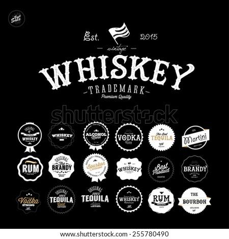 premium vintage whiskey alcohol