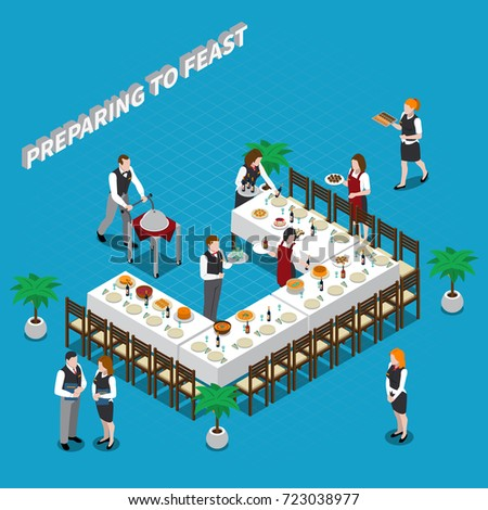 preparing to feast isometric