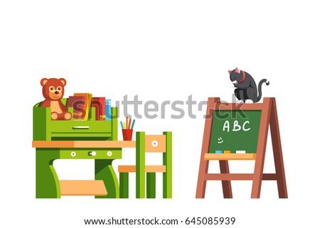 preschool classroom interior