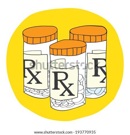 Prescription Drugs & Pill Bottle