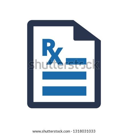 Prescription icon, Doctor Prescription Icon, Medical prescription, Medical report icon