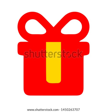 present box icon. Logo element illustration. present box symbol design. colored collection. present box concept. Can be used in web and mobile