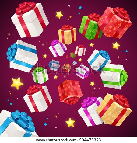 present boxes background