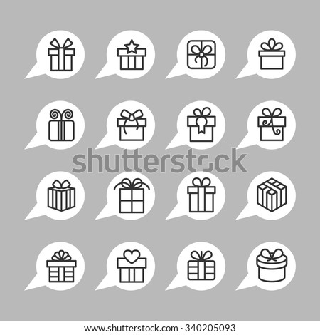 present icons   gift icons