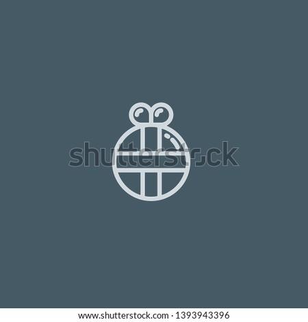 Present vector icon. Present concept stroke symbol design. Thin graphic elements vector illustration, outline pattern for your web site design, logo, UI. EPS 10.