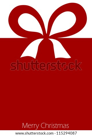 Present with red ribbon bow