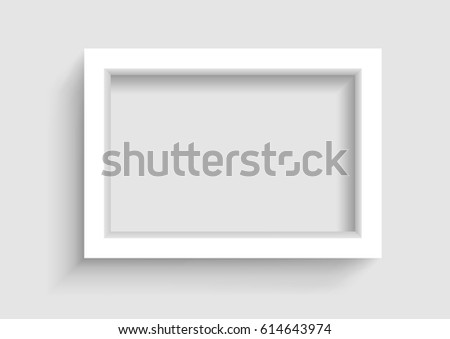 Presentation A3 Or A4 Horizontal Picture Frame Design With Shadow On