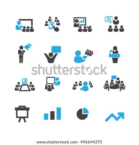 Presentation and Business icons,Vector