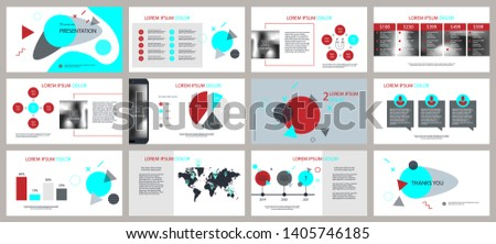 Presentation and slide layout background. Design red template. Flyer, leaflet, leaflet, advertising, brochure, modern style