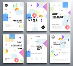 Presentation booklet cover - vector template a4 pages on abstract background with colorful brush strokes. Place for your text, images, contact information, infographics, tables and headlines