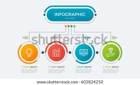 Presentation business infographic template with 4 options. Vector illustration.