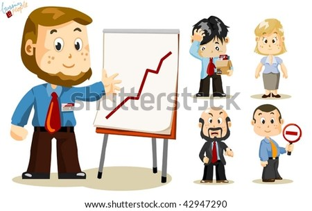 Presentation. Business People Vector
