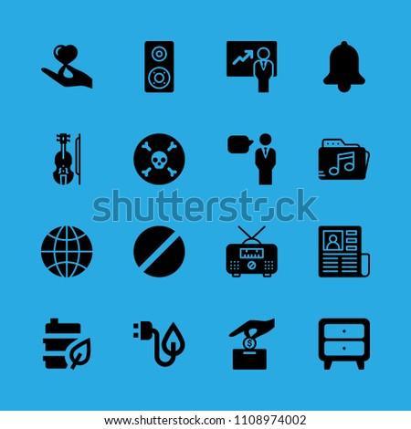 presentation  cupboard  radio