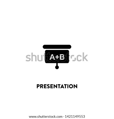 presentation icon vector. presentation sign on white background. presentation icon for web and app