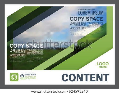 Presentation layout design template annual report cover page presentation layout design template annual report cover page greenery modern background illustration vector maxwellsz