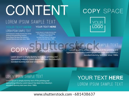 presentation layout design template business financial for