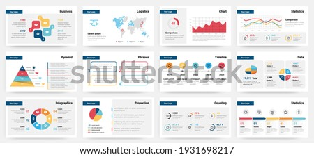 Presentation mockup. Modern business slide template, creative corporate advertising layout. Colorful analytic graphs, bars diagrams. Financial visualization. Infographic presentation vector design
