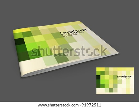 Presentation of booklet design content background. editable vector illustration