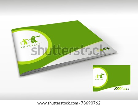 Presentation of brochure cover design template., vector illustartion.