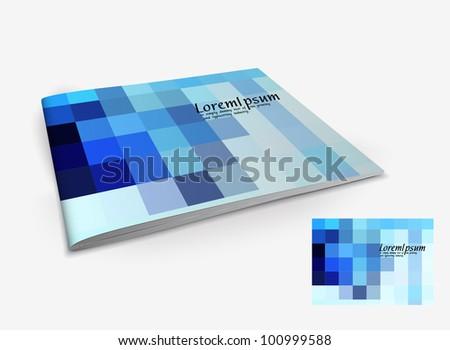 Presentation of brochure cover design template., vector illustration.